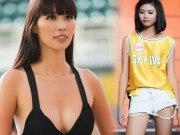 Hà Anh sexy hết cỡ khi hướng dẫn thí sinh Hoa hậu VN