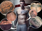 Cả cơ thể toàn hình xăm về phụ nữ trong đời David Beckham