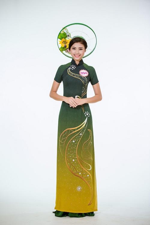 Ảnh áo dài chung kết nóng hổi của top 30 Hoa hậu VN - 2
