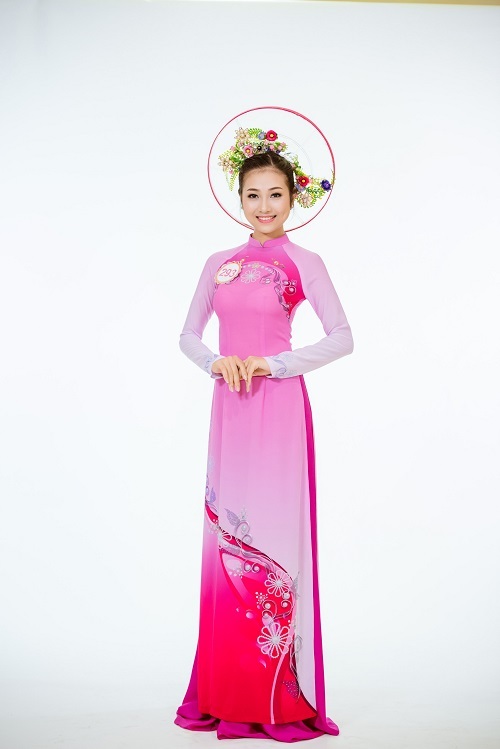 Ảnh áo dài chung kết nóng hổi của top 30 Hoa hậu VN - 1
