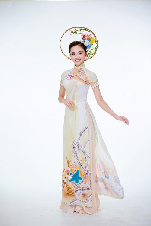 Ảnh áo dài chung kết nóng hổi của top 30 Hoa hậu VN - 4