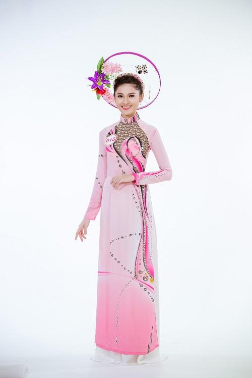 Ảnh áo dài chung kết nóng hổi của top 30 Hoa hậu VN - 8