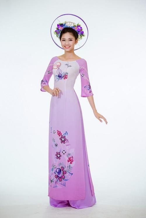 Ảnh áo dài chung kết nóng hổi của top 30 Hoa hậu VN - 5