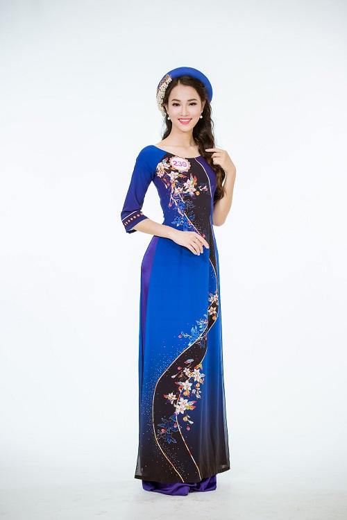 Ảnh áo dài chung kết nóng hổi của top 30 Hoa hậu VN - 6