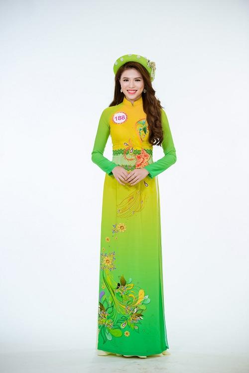 Ảnh áo dài chung kết nóng hổi của top 30 Hoa hậu VN - 7