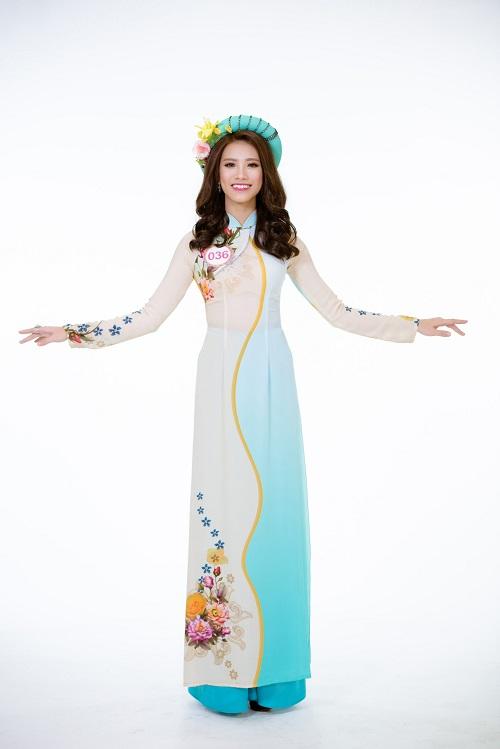 Ảnh áo dài chung kết nóng hổi của top 30 Hoa hậu VN - 9
