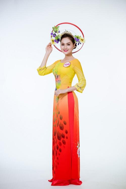 Ảnh áo dài chung kết nóng hổi của top 30 Hoa hậu VN - 11