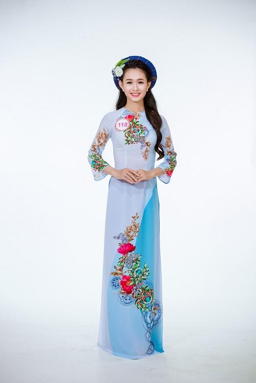 Ảnh áo dài chung kết nóng hổi của top 30 Hoa hậu VN - 12