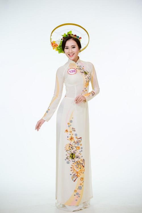 Ảnh áo dài chung kết nóng hổi của top 30 Hoa hậu VN - 13