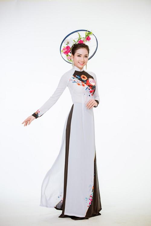 Ảnh áo dài chung kết nóng hổi của top 30 Hoa hậu VN - 14