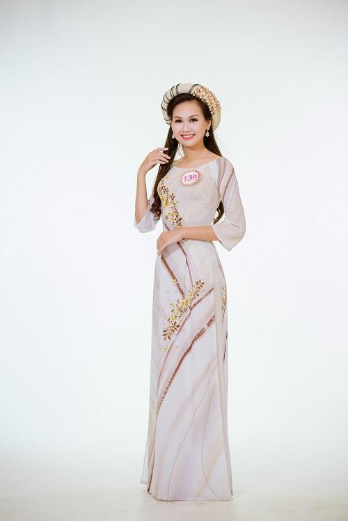 Ảnh áo dài chung kết nóng hổi của top 30 Hoa hậu VN - 15