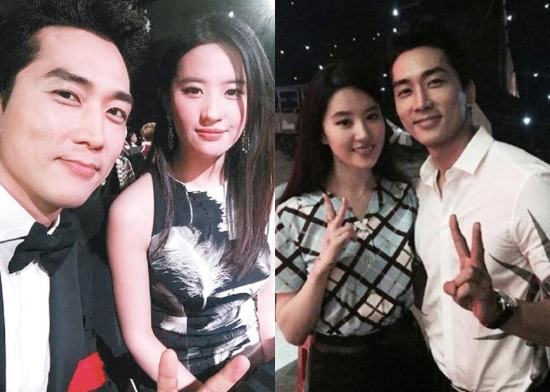 Song Seung Hun tung ảnh thân mật với Lưu Diệc Phi - 1