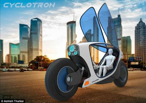Môtô điện tự lái Cyclotron tối tân cho tương lai - 3