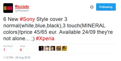 Sony Xperia XR và Xperia X Compact ra mắt ngày 24 tháng 9 - 1