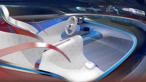 Ngắm du thuyền mặt đất Vision Mercedes-Maybach 6 coupe - 12