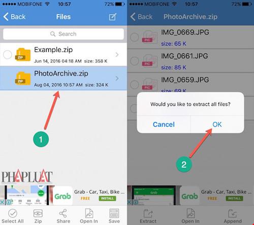 Hướng dẫn nén và giải nén file trên iPhone - 2