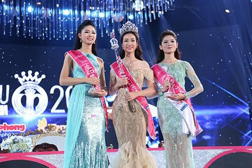 Tân Hoa hậu VN không bận tâm vì bị so sánh với 2 á hậu - 1