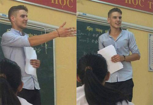 """Thầy giáo ngoại quốc điển trai khiến nữ sinh """"mê mệt"""" - 1"""