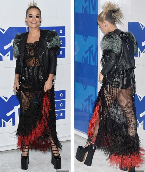 Beyonce nổi nhất thảm đỏ VMA với váy mỏng như sương - 8