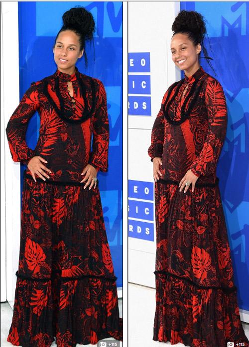 Beyonce nổi nhất thảm đỏ VMA với váy mỏng như sương - 18
