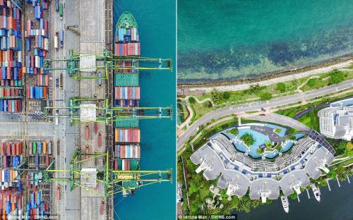 Ngắm vẻ đẹp khác lạ của Singapore từ trên cao - 3