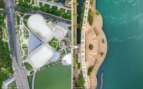 Ngắm vẻ đẹp khác lạ của Singapore từ trên cao - 6