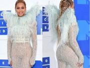 Beyonce nổi nhất thảm đỏ VMA với váy mỏng như sương