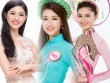 """""""Cân đo"""" nhan sắc hoa hậu Mỹ Linh cùng 2 tân á hậu"""