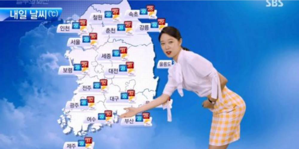 """Khán giả Hàn bức xúc vì phim """"ép"""" MC thời tiết độn mông - 4"""