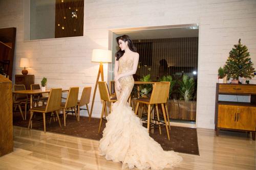 """Sự thật về chiếc váy """"đụng hàng"""" của hoa hậu Mỹ Linh - 5"""