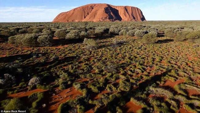 Video quay đá thiêng lớn nhất thế giới ở Úc từ trên cao - 1