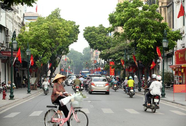 """Phố phường Hà Nội """"khoác áo mới"""" đón Tết Độc lập - 1"""