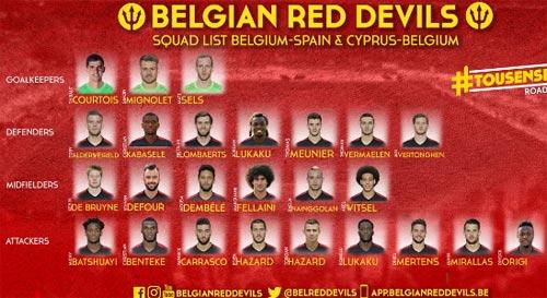 """Bỉ - Tây Ban Nha: Hai """"tướng"""" cùng ra mắt - 3"""