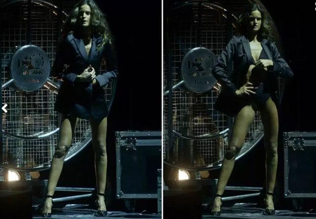 Siêu mẫu Brazil gây mê với màn thoát y trên sân khấu - 1