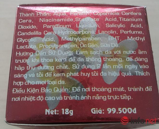 """Giật mình với hàng loạt kem ngừa mụn, dưỡng trắng da chứa chất """"lạ"""" - 1"""