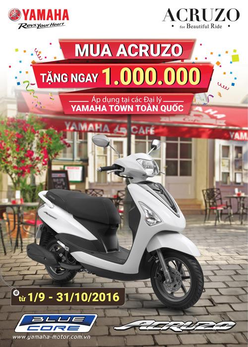 Yamaha tung ra chương trình khuyến mãi dành cho người mua Acruzo - 2