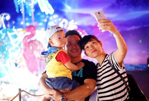 Ngắm lồng đèn hình muông thú khổng lồ ở Sài Gòn - 18