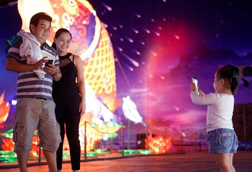 Ngắm lồng đèn hình muông thú khổng lồ ở Sài Gòn - 17