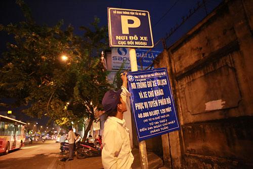 Gửi xe vào tuyến phố đi bộ chỉ với giá từ 5.000 đồng - 7