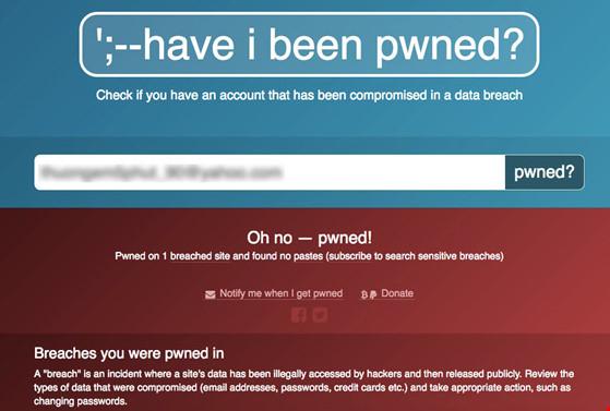 Cách kiểm tra xem tài khoản của bạn có bị rò rỉ trên mạng - 1