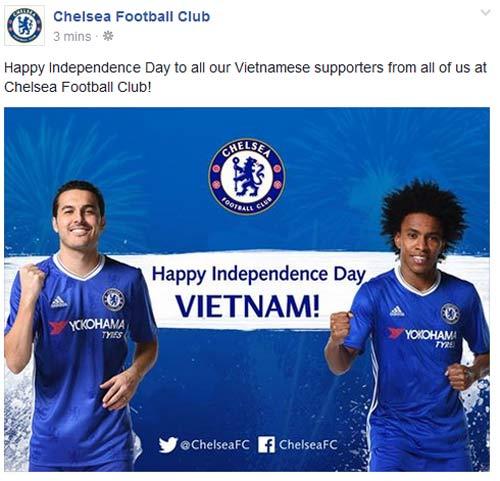 CLB Chelsea, Dortmund chúc mừng Quốc khánh Việt Nam - 1
