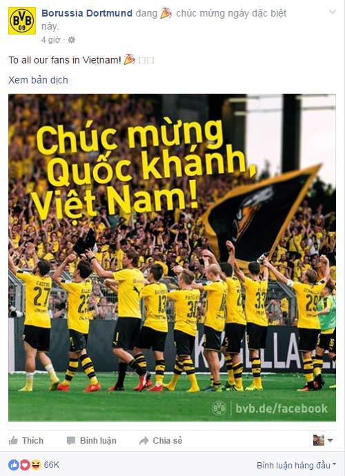 CLB Chelsea, Dortmund chúc mừng Quốc khánh Việt Nam - 2