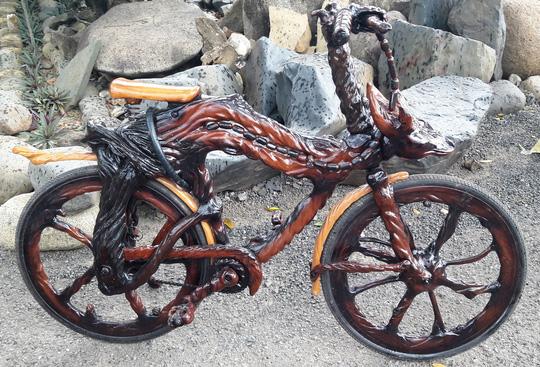 Độc đáo: Chiếc mô tô bằng gỗ độc nhất vô nhị ở Lâm Đồng - 11
