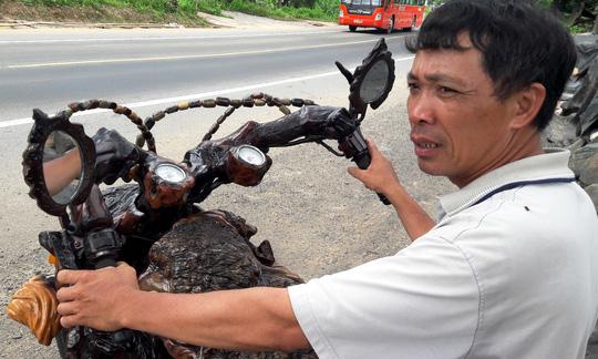 Độc đáo: Chiếc mô tô bằng gỗ độc nhất vô nhị ở Lâm Đồng - 2