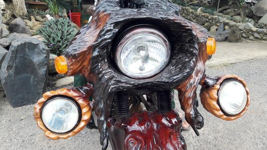 Độc đáo: Chiếc mô tô bằng gỗ độc nhất vô nhị ở Lâm Đồng - 7