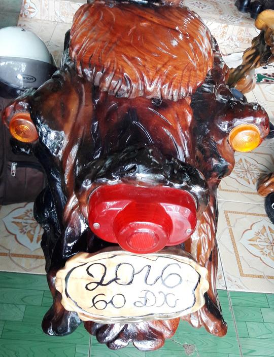 Độc đáo: Chiếc mô tô bằng gỗ độc nhất vô nhị ở Lâm Đồng - 8