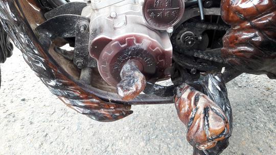 Độc đáo: Chiếc mô tô bằng gỗ độc nhất vô nhị ở Lâm Đồng - 10