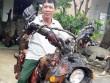 Độc đáo: Chiếc mô tô bằng gỗ độc nhất vô nhị ở Lâm Đồng