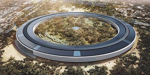 Tòa nhà Apple Campus 2 đang được lắp tấm năng lượng mặt trời - 1