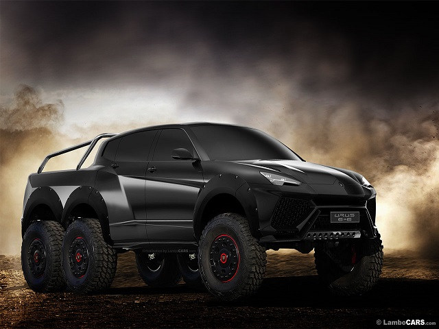 Lạ mắt với ảnh render Lamborghini Urus 6x6 - 1